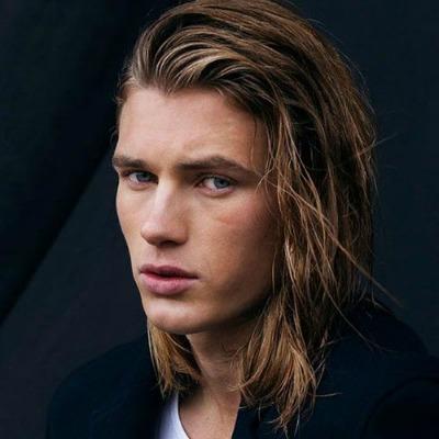 1 Blonde Shoulder Length Hair Men Teen Vanity