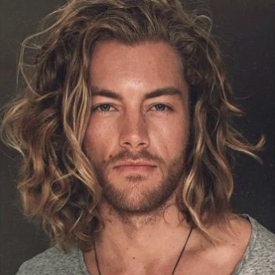 Messy Long Blonde Hair Men Teen Vanity